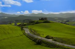 Tuscan λόφος Στοκ Εικόνες