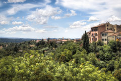 Tuscan τοπίο στο SAN Miniato, Ιταλία στοκ φωτογραφία με δικαίωμα ελεύθερης χρήσης