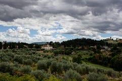 Tuscan τοπίο Φλωρεντία, Ιταλία Στοκ φωτογραφία με δικαίωμα ελεύθερης χρήσης