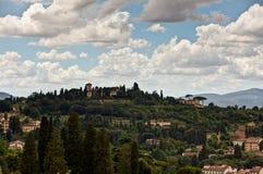 Tuscan τοπίο Φλωρεντία, Ιταλία Στοκ Φωτογραφίες
