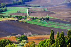 Tuscan τοπίο Στοκ Φωτογραφία