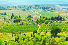 Tuscan τοπίο Στοκ εικόνες με δικαίωμα ελεύθερης χρήσης