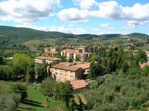 tuscan χωριό Στοκ Εικόνες