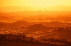 tuscan όψη λόφων Στοκ Εικόνες