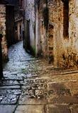 Tuscan Alley At Night Royalty Free Stock Photos