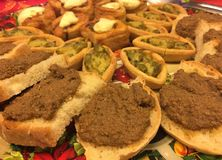 Tuscan appetizer antipasto, Italian Cuisine. royalty free stock photos