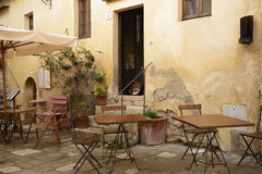 A tuscan bar. Outdoor of a typical tuscan bar Stock Photo