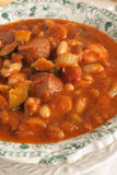 Tuscan Bean and Sausage Soup Stock Photo