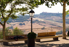 Tuscan benches Royalty Free Stock Photos