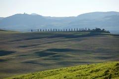 Tuscan bygd, italienskt landskap Fotografering för Bildbyråer