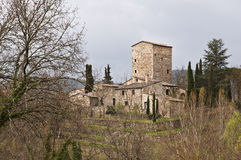 Tuscan castle Royalty Free Stock Photo