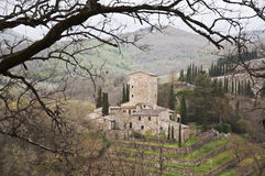 Tuscan castle Stock Images