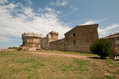 Tuscan castle populonia Stock Images