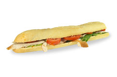 Tuscan chicken baguette. Stock Photography