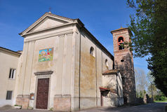 Tuscan church. Quite old church in Tuscany named chiesa di Parezzana close to Lucca and Pisa Royalty Free Stock Photo