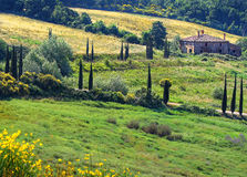 Tuscan cottage Royalty Free Stock Image