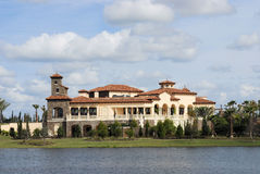Tuscan Country Club On Water Royalty Free Stock Photo