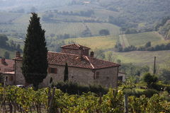 Tuscan country house Royalty Free Stock Photo