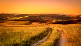 Tuscan country road stock image