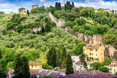 Tuscan countryside. Green florence italy Stock Photo
