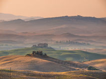 Tuscan Countryside with Hills and Villages Stock Image