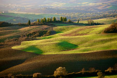 Tuscan Countryside, Italian landscape, sunset Royalty Free Stock Photo