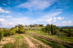 Tuscan countryside landscape Royalty Free Stock Image