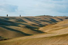 Tuscan countryside landscape with characteristic rolling hills, Tuscany, Italy. Europe Royalty Free Stock Images