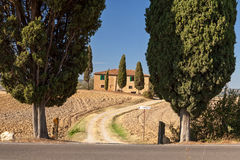 Tuscan countryside near Pienza, Tuscany, Italy Royalty Free Stock Photos