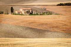 Tuscan countryside after sunrise, Tuscany, Italy. Tuscan countryside after sunrise, near Pienza, Tuscany, Italy Royalty Free Stock Images