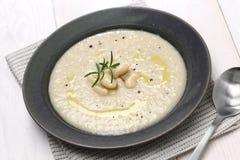 Tuscan creamy white bean soup Stock Photo