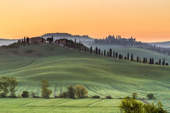 Tuscan curves Stock Images