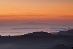 Tuscan Dawn, Montepulciano, Italy Stock Photos