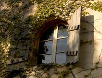 tuscan fönster Fotografering för Bildbyråer