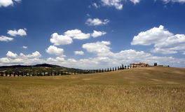 Tuscan Farmhouse. South of Sienna in Italy Stock Photography
