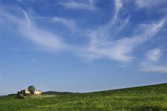 Tuscan farmhouse. A nice view of tuscan landscape Royalty Free Stock Images