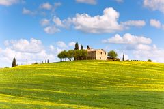 Tuscan farmhouse Royalty Free Stock Image
