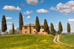 Tuscan farmhouse Royalty Free Stock Photos