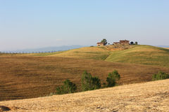 Tuscan farmhouse. Cottage in the middle of the Tuscan hills stock photography