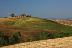 Tuscan farmhouse. A typical farmhouse in the earth of tuscan countryside stock photo