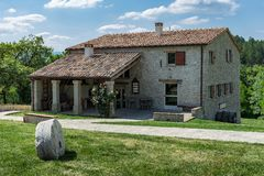Tuscan farmhouse in Italy. Old Tuscan farmhouse in Italy stock image