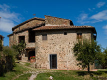 Tuscan Farmhouse. Italy Scenics Tuscan Farmhouse tourist villa stock photo