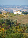 Tuscan Farmhouse & Landscape 2. Tuscan landscape, Farmhouse and Rolling hills near San Gimignano stock image