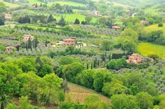 Tuscan farmhouses Royalty Free Stock Image