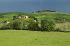 Tuscan  farmland Stock Photo