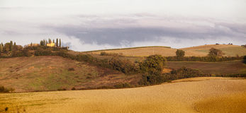Tuscan Fields. In Italy during a warm summer day Stock Photography