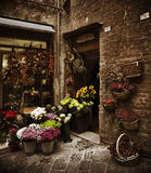 Tuscan Flower Shop, Italy. Beautiful flower shop in a small Tuscan town, Italy Stock Images