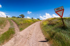 Tuscan forked road Stock Photo