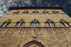 Tuscan gothic building Royalty Free Stock Photos