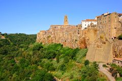 Tuscan hill town Stock Images